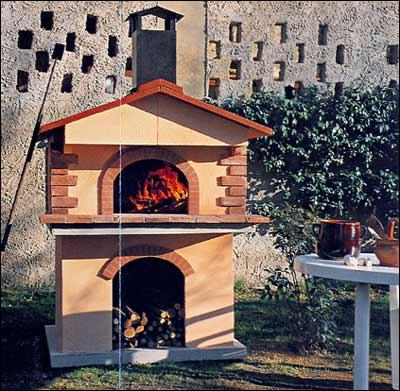 Vorgefertigte ofenstrukturen f r den garten il forno del - Ofen fur garten ...
